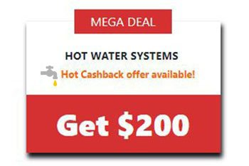 Hot Water Cashback Megadeal